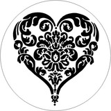 There is room for a maximum of 3 letters each size of the heart,  otherwise we recommend a 30mm stamp to fit more text on this design.