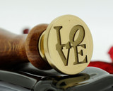 Wax Seal Stamp LOVE design, custom laser engraved