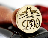 Wax Seal Love Birds Monogram Bespoke Design