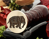 Indian Elephant wax seal