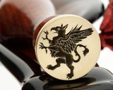Griffin Wax Seal Stamp, photo reversed
