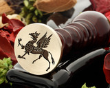 Hippogriff wax seal, reversed for engraving