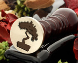 Bonsai tree was seal stamp