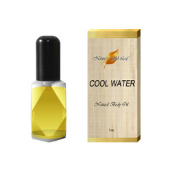 Cool Water Natural Body Oil for Men 1 oz.