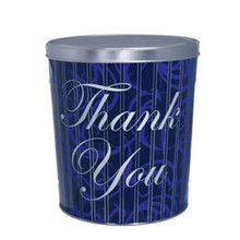 Thank You 3 1/2-Gallon Popcorn Tin With Three Flavors Of Popcorn That You Choose From Our Combo Options