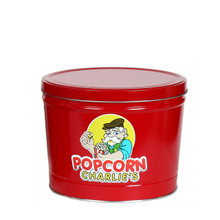 Solid Red 2-Gallon Popcorn Tin With Three Flavors Of Popcorn That You Choose From Our Combo Options