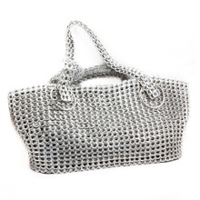 large soda tab purse gail bag in silver