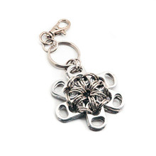 soda tab jewelry flower keychain