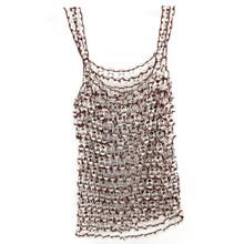 soda tab jewelry wearable vest brown