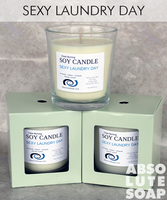 Soy Candle Scented in Sexy Laundry Day | Absolute Soap