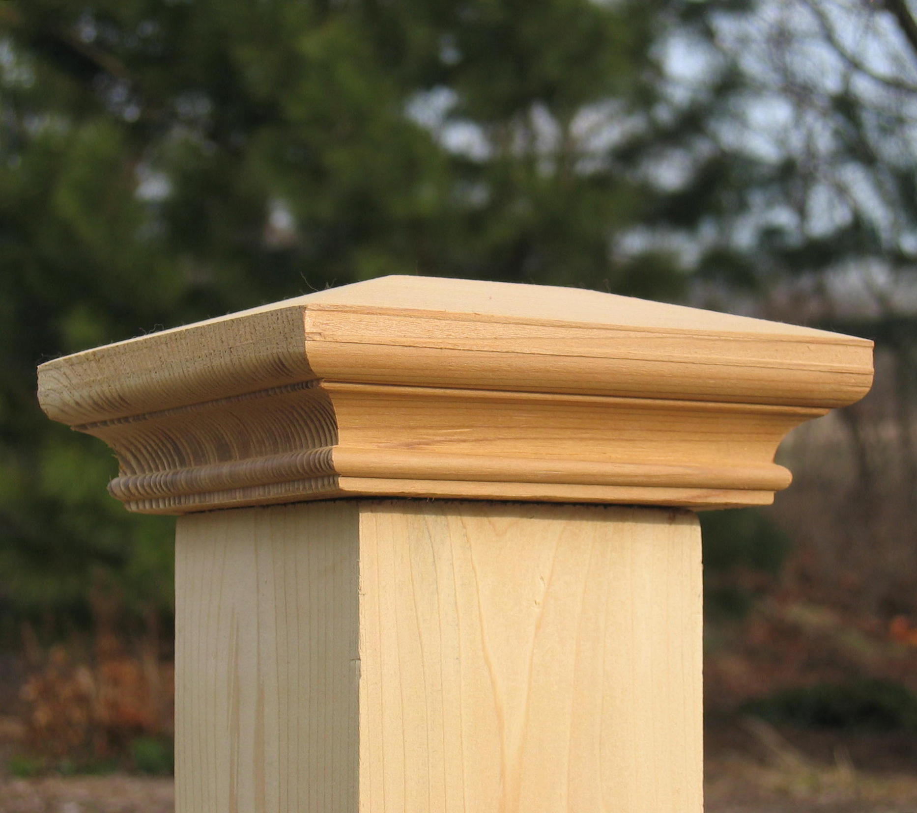 Wooden Post: Wood Fence Caps And Deck Tops