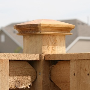 miterless wood fence post cap