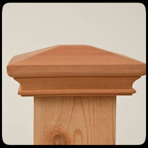 miterless wood post cap - pyramid
