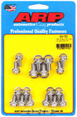 Oil Pan Bolt Kit 12-Point, Stainless Small Block Chev