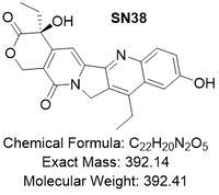 SN38 (7-ethyl-10-hydroxycamptothecin) chemical structure