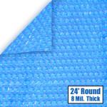24' Round Blue Solar Cover 8 Mil 3 Year Warranty