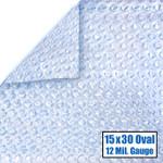15' x 30' Oval Magni-Clear Solar Cover 12 Mil 5 Year Warranty