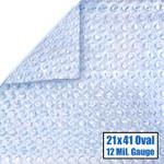 21' x 41' Oval Magni-Clear Solar Cover 12 Mil 5 Year Warranty