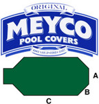 Meyco Grecian with Center End Steps Safety Pool Cover