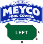 Meyco Grecian with Left Corner Steps Safety Pool Cover