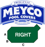 Meyco Grecian with Right Corner Steps Safety Pool Cover