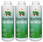 ClearView PolyPower 60 Algaecide 32 oz - 3 Pack