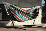 Vivere Brazilian Style Double Hammock with 9 ft. Stand - Rio Night