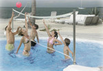 DunnRite Water Volly Stainless Steel Portable Pool Volleyball Game Set