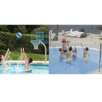 DunnRite Clear Hoop and Deck Volly Basketball & Volleyball Game Set