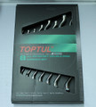 8 pc wrench set, metric, chrome finish, in retail box