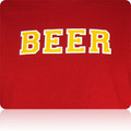 Iowa State Cardinals Beer T Shirt (Cardinal Gold White)