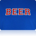 Kansas Jayhawks Beer T Shirt (Royal Red White)