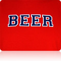 Los Angeles Angels of Anaheim Beer T Shirt (Red Navy White)