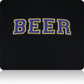 Baltimore Ravens Beer T Shirt (Black Purple MetallicGold)