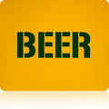 Green Bay Packers Beer T Shirt (Premium Gold)