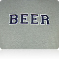 New York Yankees Beer T Shirt (Gray Navy White)