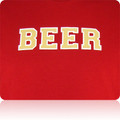 San Francisco 49ers Beer T Shirt (Cardinal LightGold White)