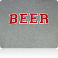 Ohio State Buckeyes Beer T Shirt (Gray Red White)