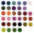 33 Colours Iridescent Rainbow Pearl Nail Glitters