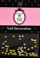 Gold Metal Square Nail Art Beads Flatback Studs 2MM (50PCS)