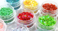 12PCS Coloured Hollow Flower Laser & Transparent Glitter Set 3mm (12 Colours) - Colour Safe!