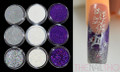 Christmas Glitter Colours for Nail Art (Purple, Silver & White)