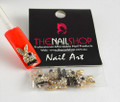 TNS Professional Nail Art Charms - Quality Gold & Crystal Rabbit (Pack of 5PCS)