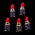 TNS Professional Nail Art Charms - Red Lipstick (Pack of 5PCS)