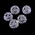 TNS Professional Nail Art Charms - Silver & Crystal Smiley (Pack of 5PCS)