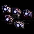 TNS Professional Nail Art Charms - Black & Glold Playing Cards (Pack of 5PCS)