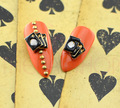 Casino Playing Cards Nail Art Charms - Example of Use