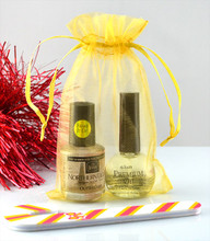 GOLD ORGANZA GIFT BAGS - EXAMPLE OF USE