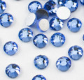 Light Blue Glass Crystals Flatback Nail Art Rhinestones (100PCS) - Available in 1.5mm, 2mm, & 3mm