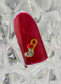 NEW Christmas Nail Art Charms - Red, Gold & Crystal Santa Stockings (5PCS)